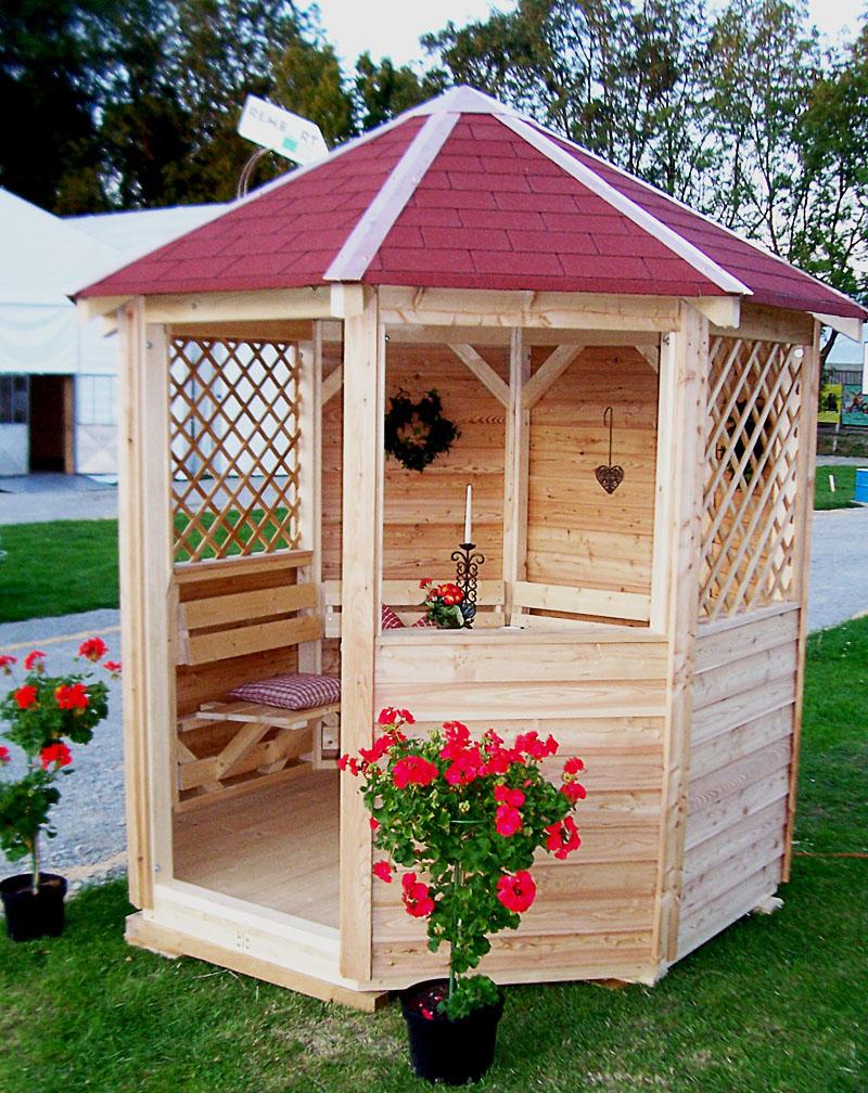 pavillon gartenlauben rembart holz im garten. Black Bedroom Furniture Sets. Home Design Ideas