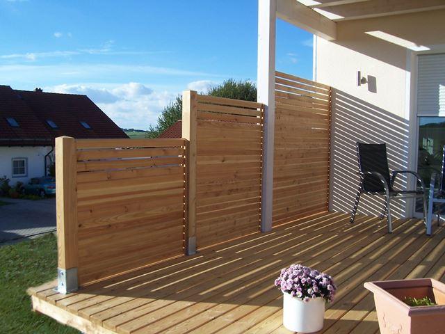 sicht und windschutz terrasse, rhombus: rembart - holz im garten, Design ideen
