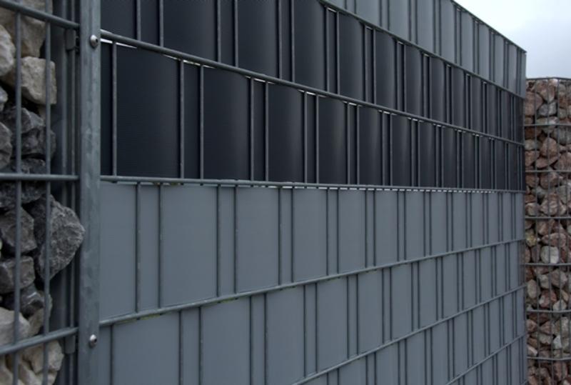 neueste sichtschutzstreifen f r doppelstabmattenzaun. Black Bedroom Furniture Sets. Home Design Ideas